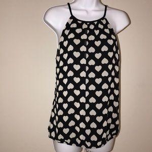 NWT Express sleeveless hearts blouse